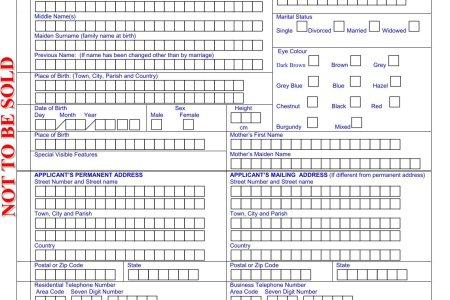 Free Application Form Jamaican Passport Application Form