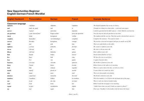 english german french wordlist
