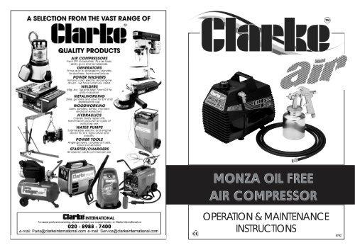 Monza Air Compressor Manual Clarke