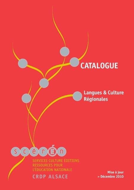 Langue Et Culture Regionales Crdp