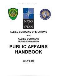 Nato Public Affairs Handbook Version 2010 Aco