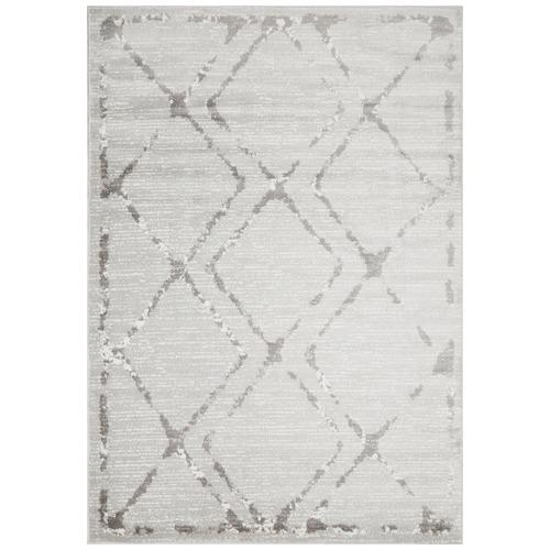 silver grey diamond rug