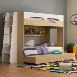 New Houston Single Trio Bunk Bed With Trundle Vic Furniture Bunk Beds Ebay