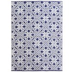 Artisandecor Navy White Chatai Classic Outdoor Rug Reviews Temple Webster