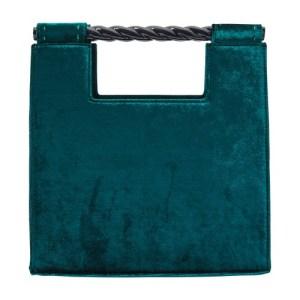Velvet handbag