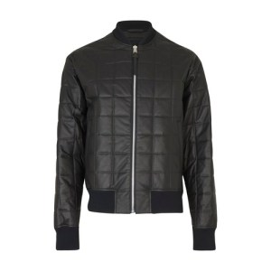 Paded leather jacket