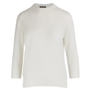 Piuma Cashmere Pullover with 3/4-length Sleeves
