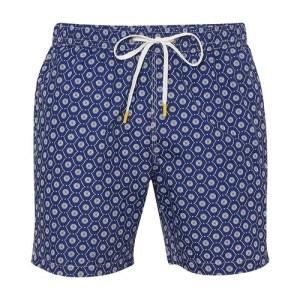 Geometric swimming shorts