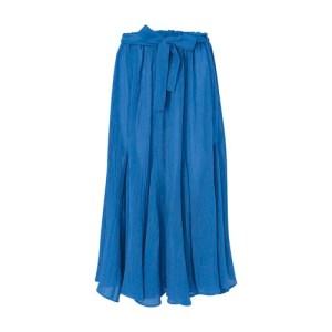 Marguerite linen maxi skirt