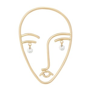 Faces single earring