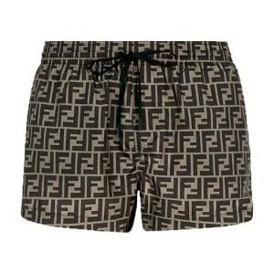 Brown fabric shorts