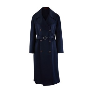 Sigourney satin trench