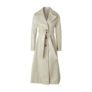 Wool-blend trench