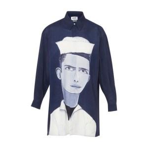 Portrait oversize shirt