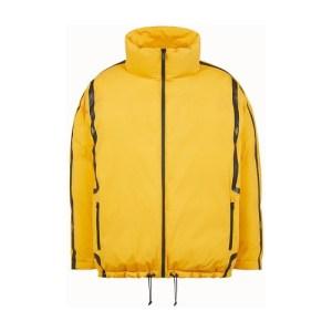 Yellow tech fabric jacket