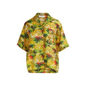 Palm print blouse