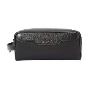 St James leather wash bag