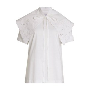 Embroidered collar t-shirt
