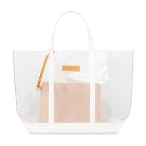 Large transparent Canvas and Sequins Cabas Tote Bag