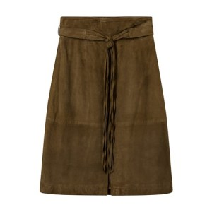Suede leather Nenuphar skirt