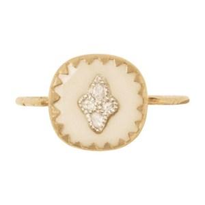 Pierrot ring white