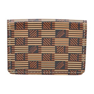 Folding card holder cuir moreau