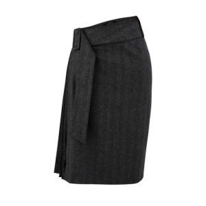 Blended wool skirt