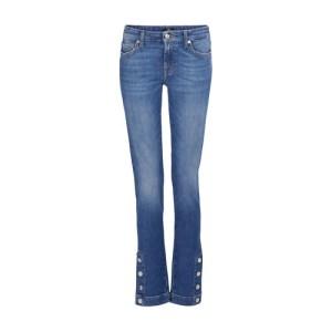 Pyper jeans with a snap-button hem