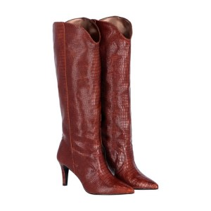 Volturno Boots In Croc Leather