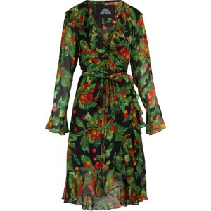 Long-sleeved wrap dress