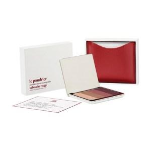 Red fine leather Chilwa eyeshadow set