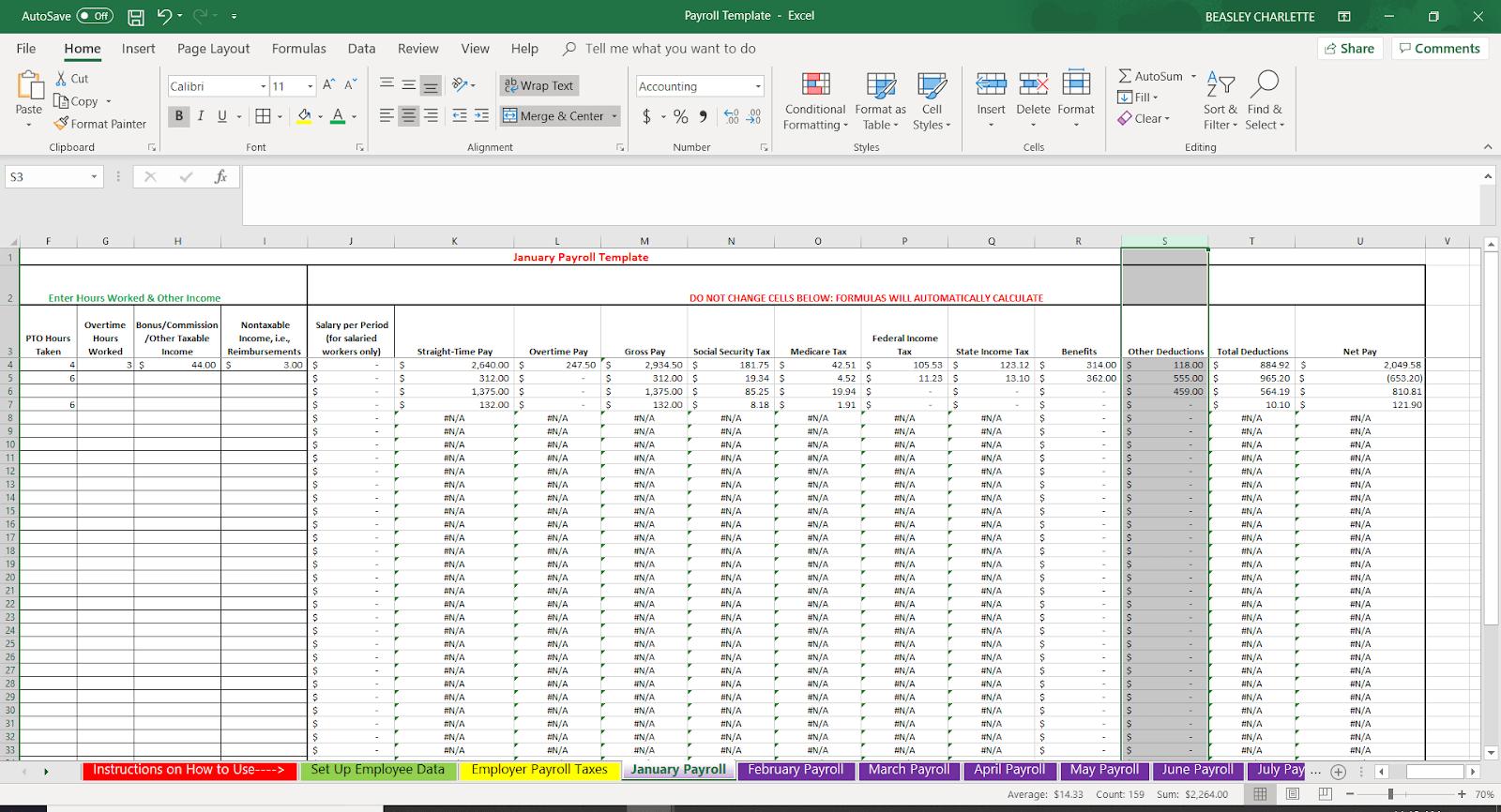 Bagaimana Melakukan Penggajian Dalam Excel Template