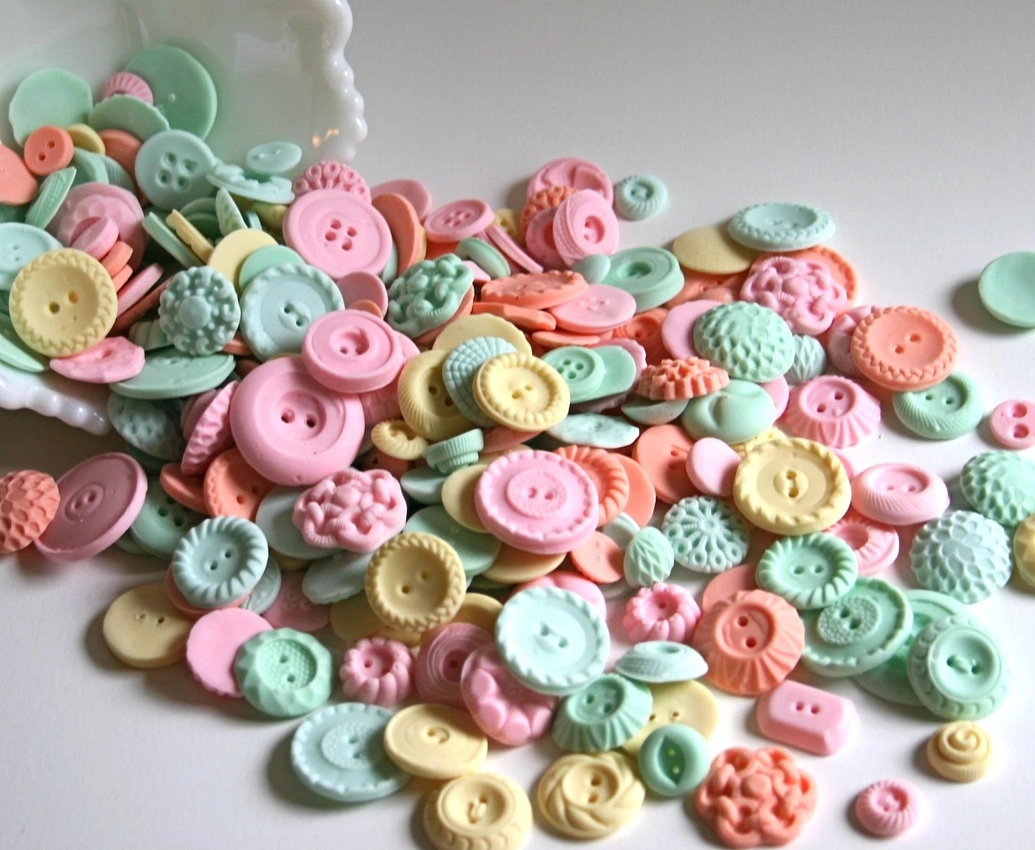 Peppermint Candy Buttons 150 ...a handmade candy / featured on Oh Joy