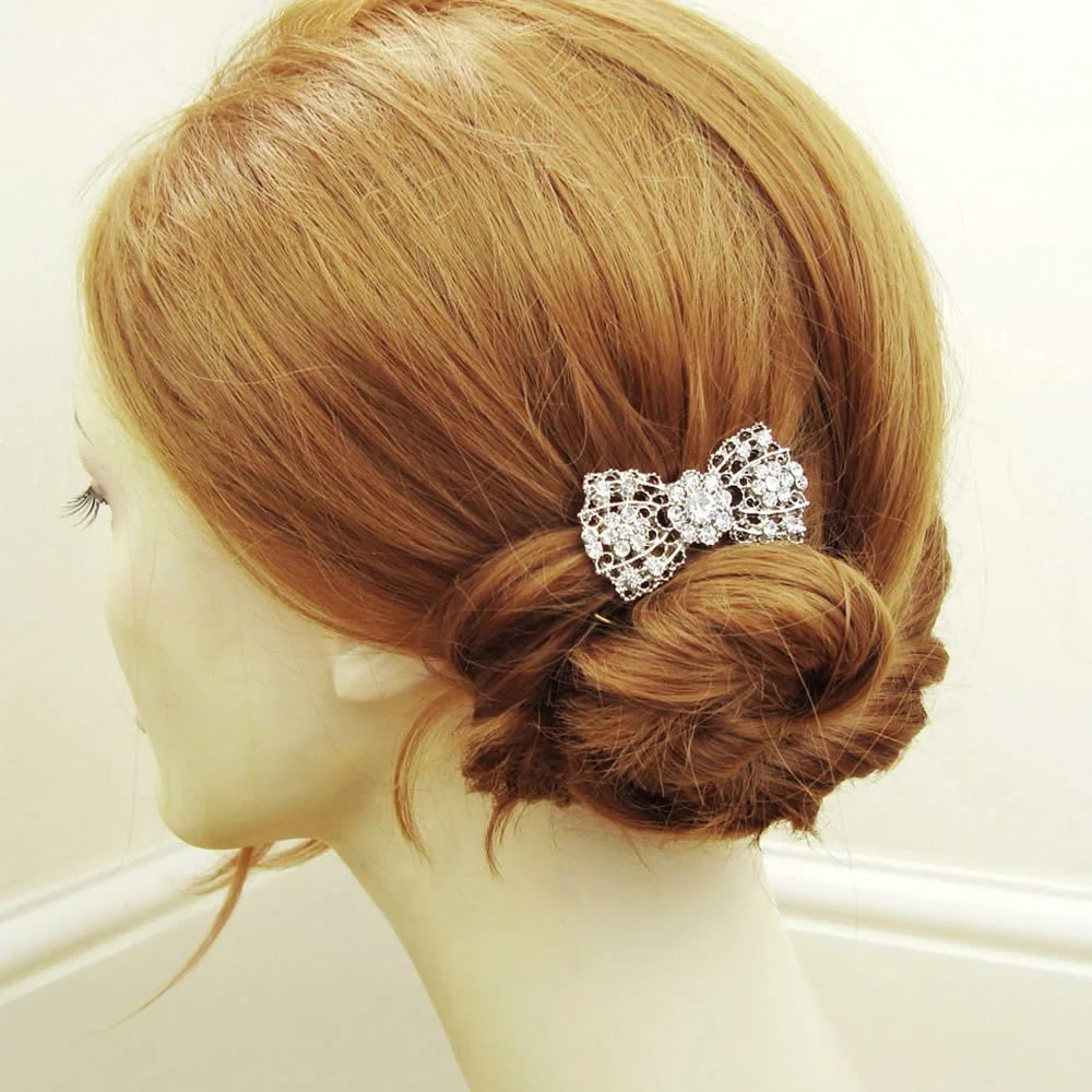 The Northern Bride Wedding Bows Hair Combs