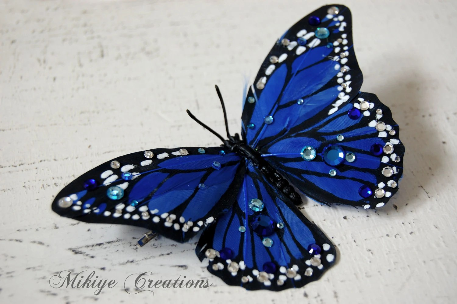 SALE - Butterfly Hair Accessory, Butterfly Bobby Pin, Hair Piece - Sapphire Butterfly