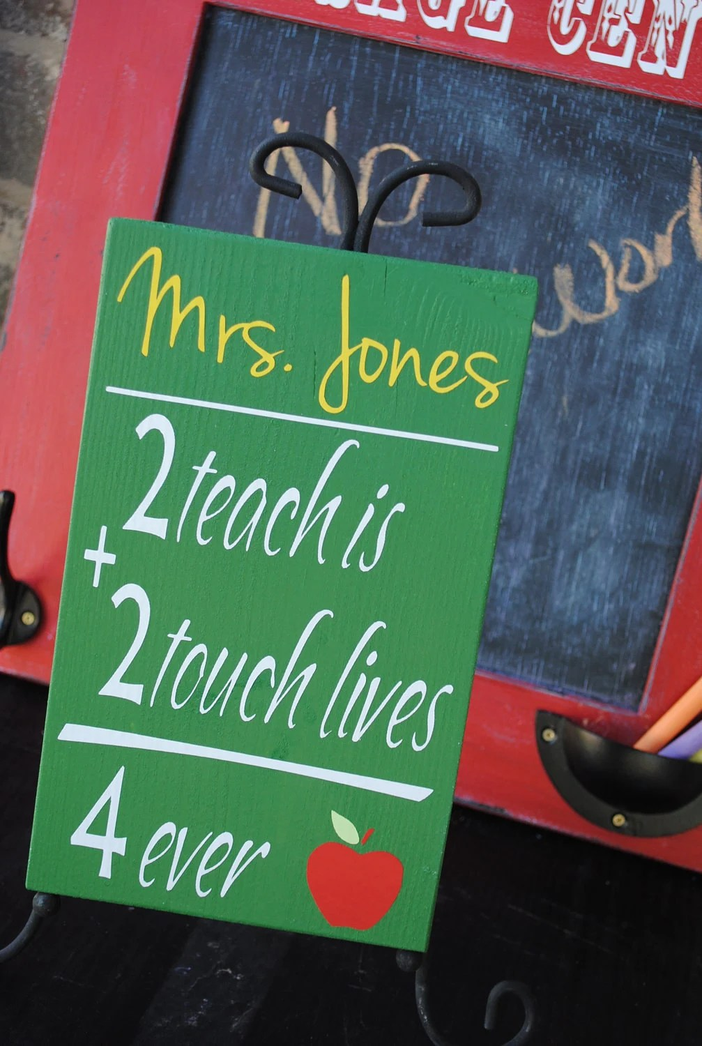 Personalized Teacher Sign To Teach is To Touch Lives Forever