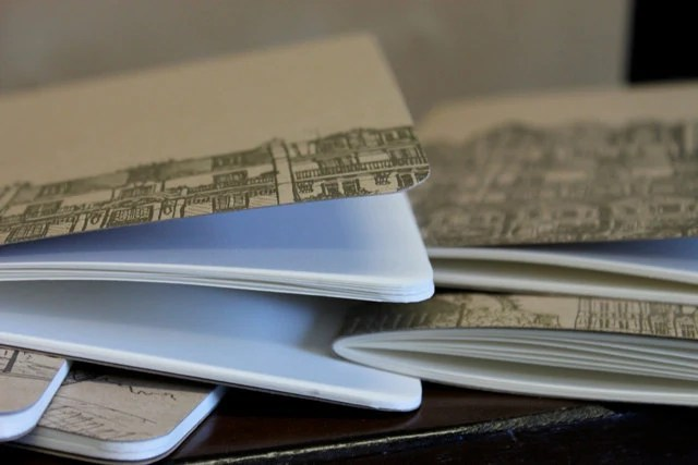 Cityscape letterpress notebook - albertinepress