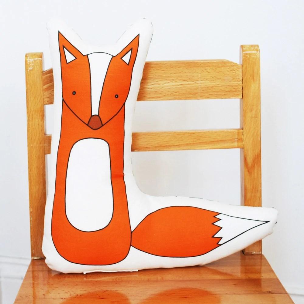 printed fox pillow - katedurkin