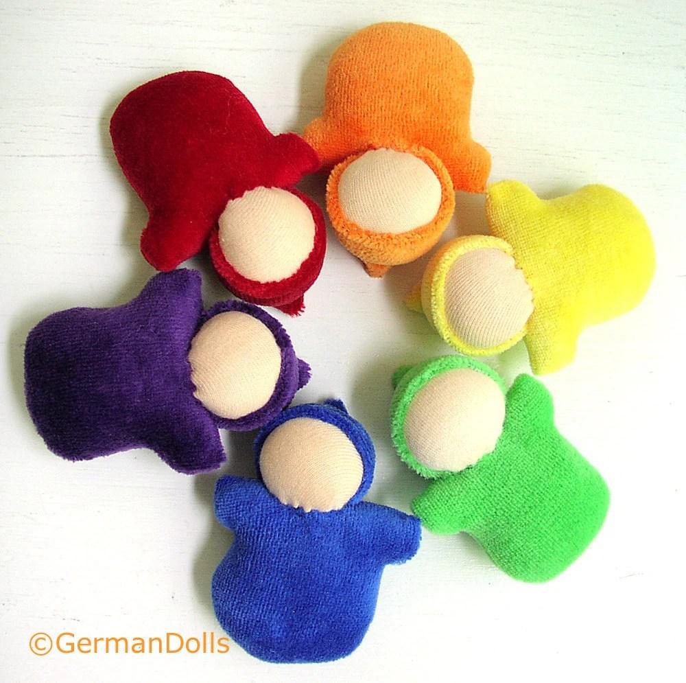 Pocket Dolls, set of 6 germandolls, waldorf toy