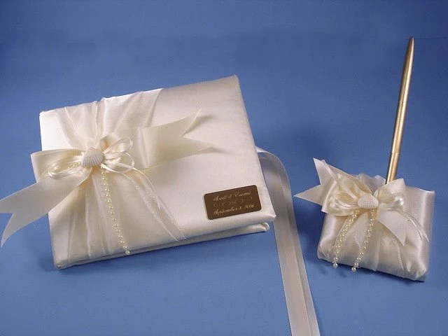 Beach Wedding Guest Book And Pen Set In By MakeThisDaySpecial