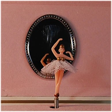 Vintage Ballerina Wind Up Music Jewelry Box
