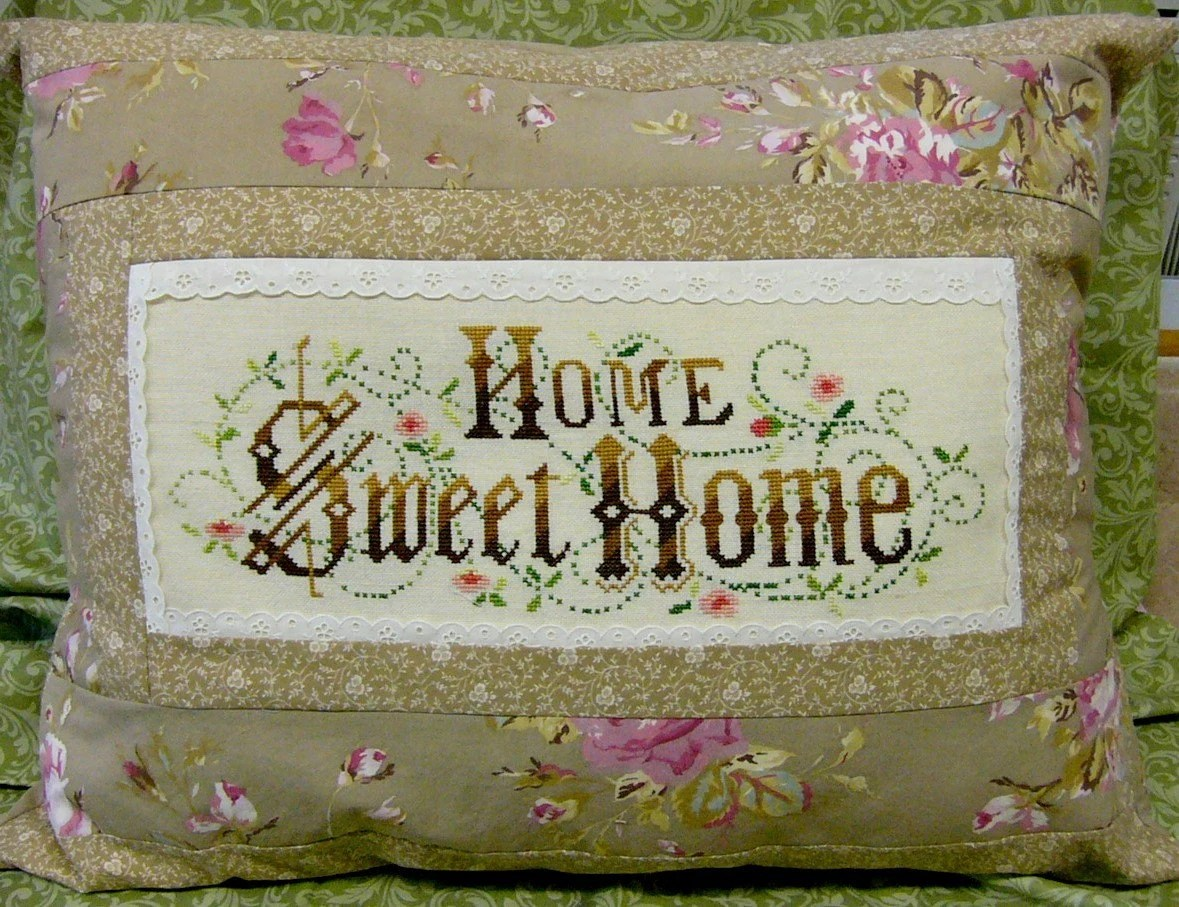 Home Sweet Home Needlepoint Vintage Lace Ashwell Full Size