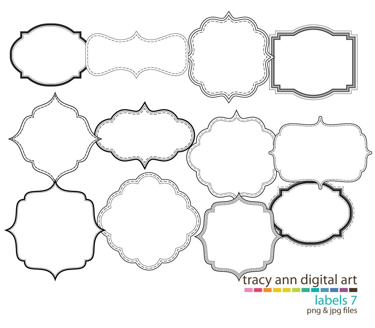 New Clip Art Labels Clipart Commercial Use Set 7