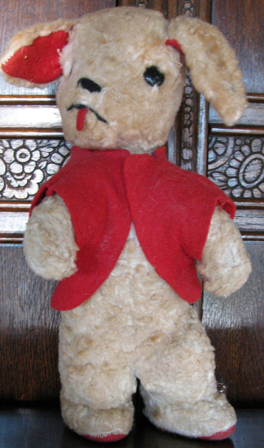 1950s Vintage Stuffed Animal Dog Puppy This Little Guy