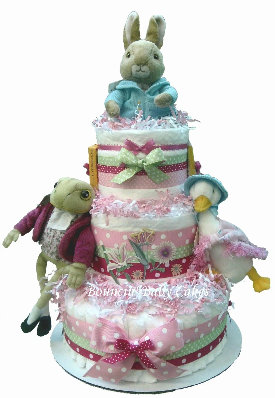 Beatrix Potter Peter Rabbit Diaper Cake Nursery Gift