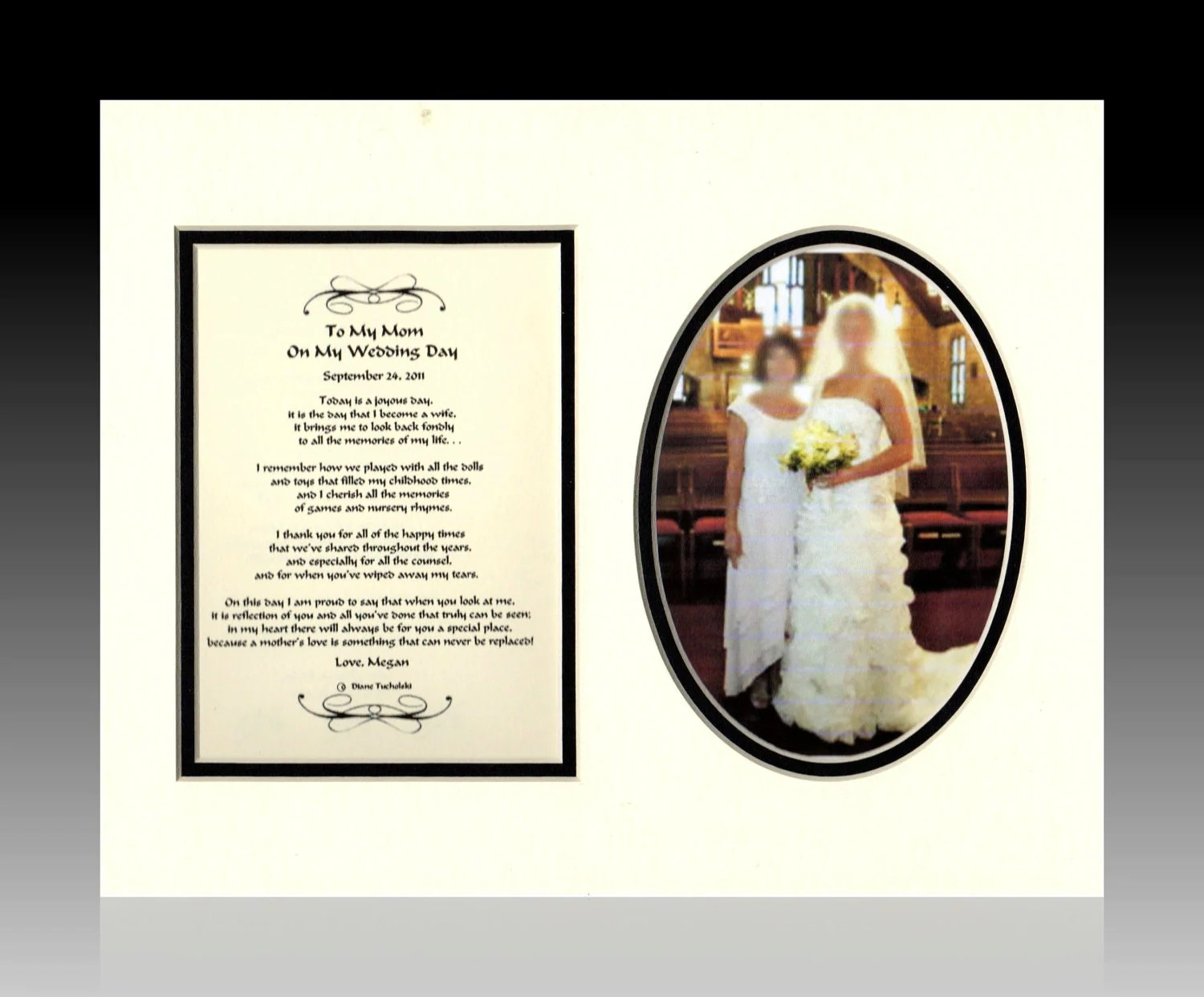 Wedding Mother Of The Bride Gift Personalized To My Mom On My