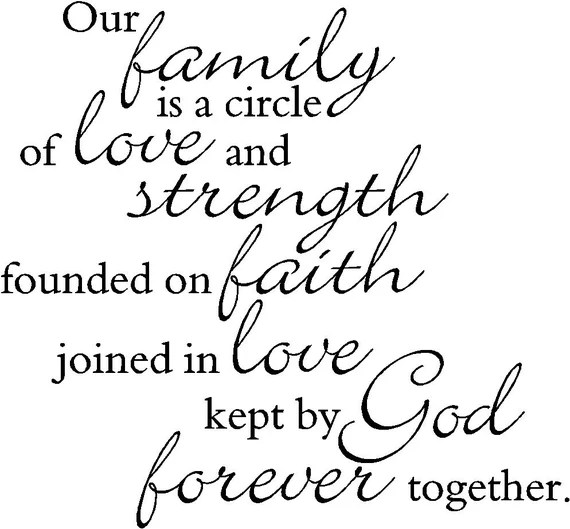 Our Family is a circle of strength and love 2 Vinyl Wall
