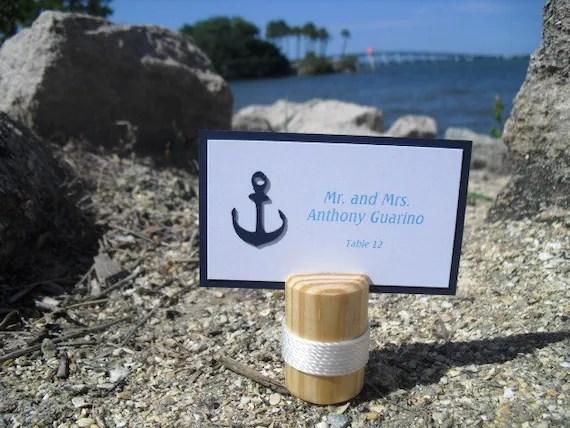 Escort Card Holders SET OF 10 Nautical Wood Beach Wedding