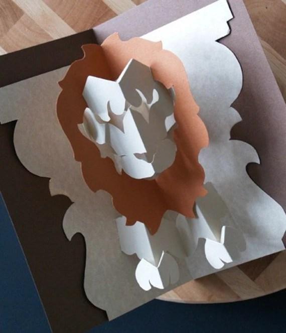Kirigami Lion Leo Pop Up Card Make Yourself