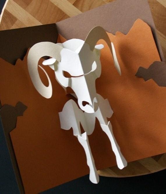 Kirigami Ram Aries Pop Up Card Make Yourself